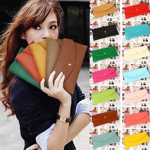 Picture of 12 Colors Wallet Korean Women Slim Card Package Clutch Handbag