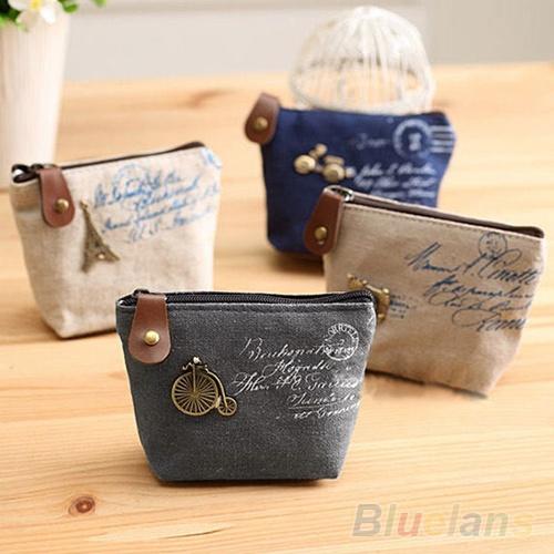 Picture of Retro Women Lady Girl Coin Bag Purse Wallet Card Case Vogue Classic Handbag
