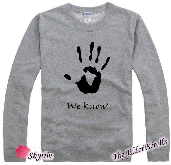 wish men s fashion the elder scrolls v skyrim sweater hoodie long