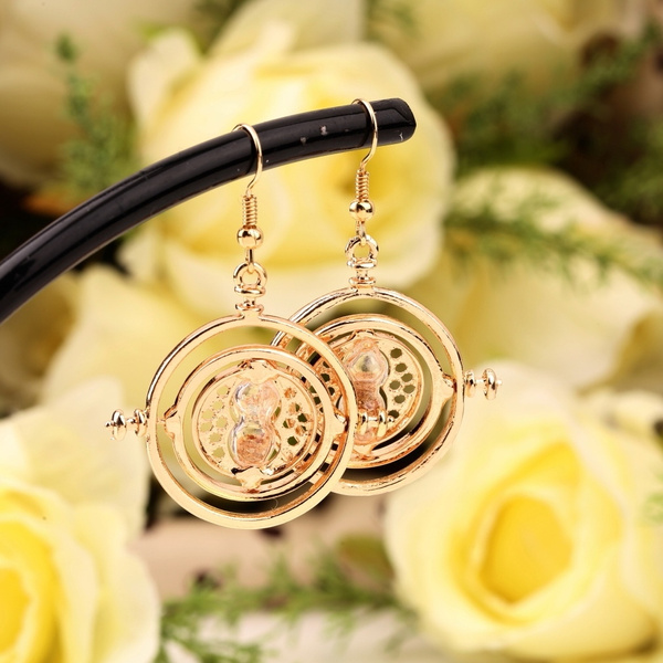 Picture of Fashion Harry Potter Rotating Hermione Time-turner Earrings Necklace 1.necklace 2.earrings
