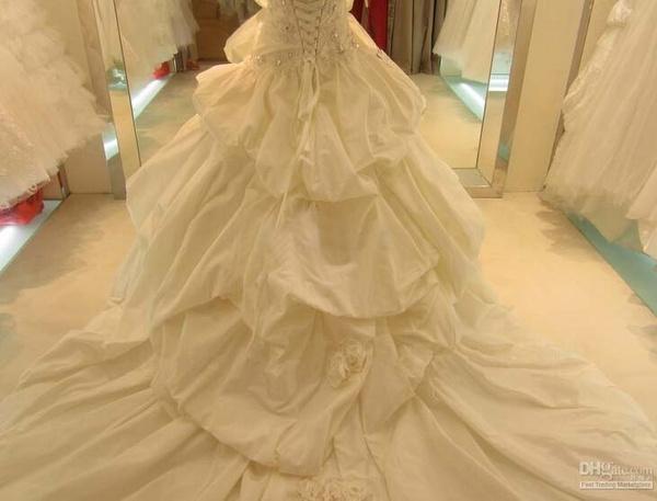 Wish   Hot Sale Satin Vintage Wedding Dresses Ruffle Skirt Wedding ...