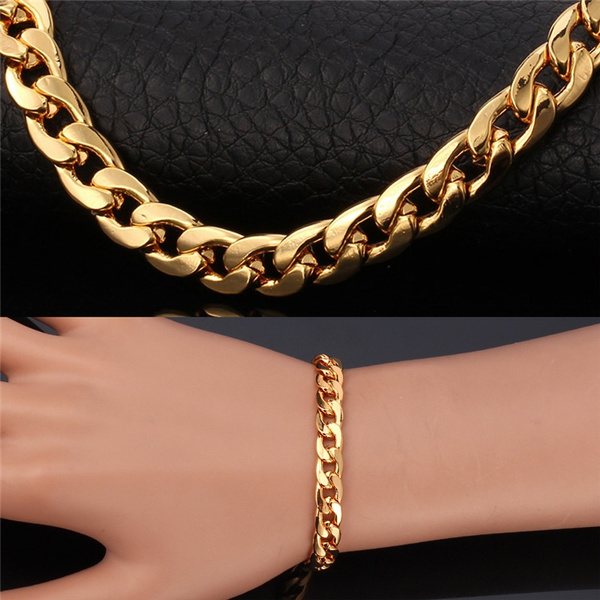 18k Real Gold Plated Bracelets Bangles