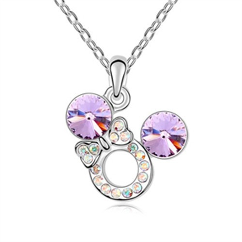 wish exquisite shine jewellery necklace by swarovski elements mickey