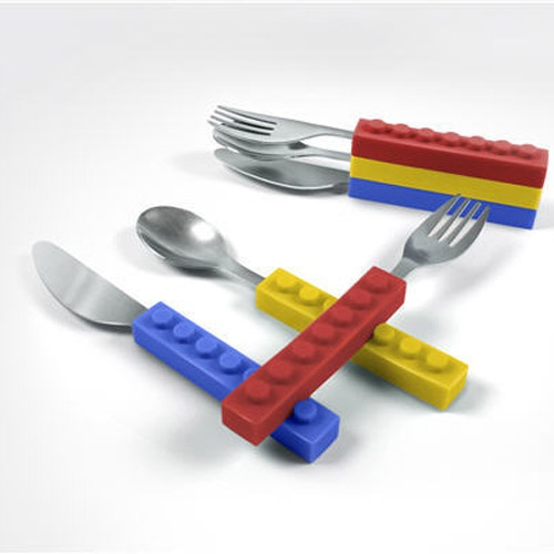 sc 1 st  Wish & Wish | Lego Bricks Blocks Cutlery Tablespoons Spoon Knife Fork Set