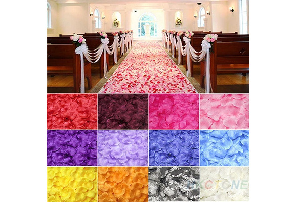 100pcs Silk Rose Flower Petals Leaves Wedding Table Decorations