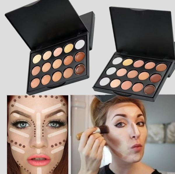 Picture of 15 Color Cosmetics Camouflage Concealer Palette Contours Size 10cm X 8cm