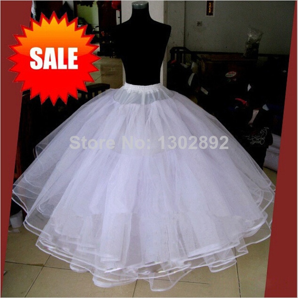 Wish  Best Sale White 3 Layers Wedding Accessories Petticoats For ...