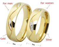 Mama | New fashion 6mm The Lord Of The Rings Gold crystal Tungsten Steel Ring Band Men size 5-13 men