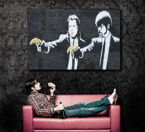 Wish   Huge Print on Canvas Banksy Graffiti \