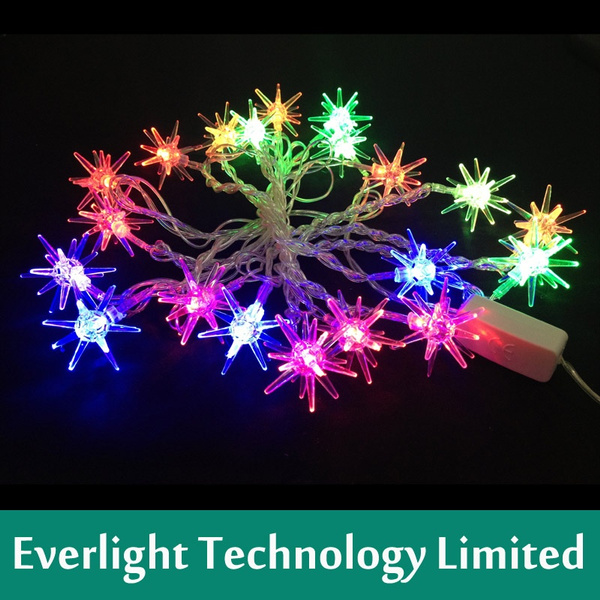 Rgb Led Christmas Lights.110v 220v Sputnik Rgb Led String Christmas Lights 4m 20leds For Halloween Christmas Holiday Party Home Decoration