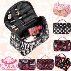 Women Lady Makeup Cosmetic Case Toiletry Bag Zebra Travel Handbag Organizer New SV005497