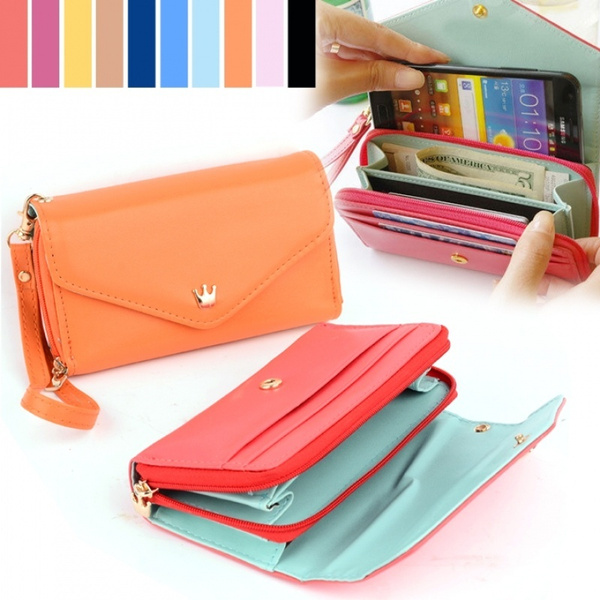 Picture of Women Leather Wallet Coin Case Purse Long Wallet Handbag For Iphone/galaxy Iphone 4/5
