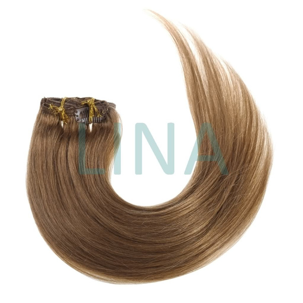 Wish Lina 15 Inch 7pcs Clip In Remy Human Hair Extensions Straight