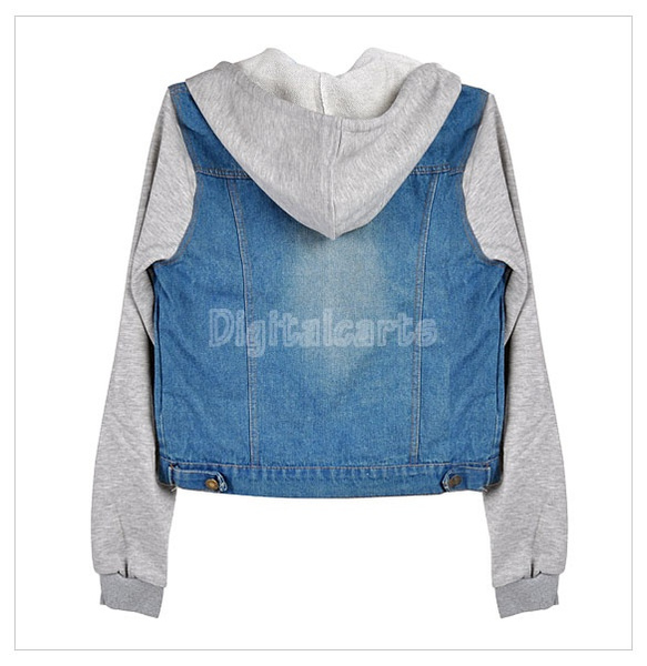 Wish | High Quality Fashion Women Denim Coat Hoodie Jackets Women ...