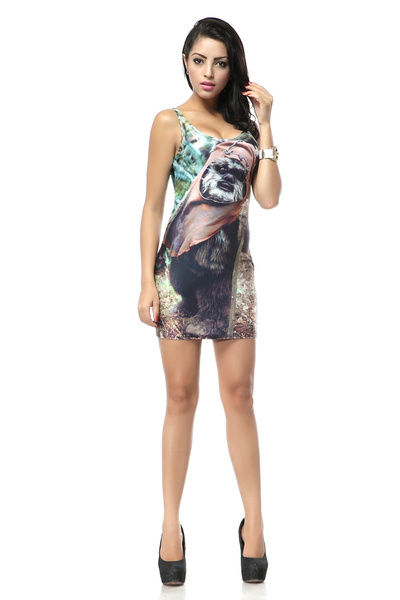 364f694115104 Star Wars Ewok Dress Party Dress Ewok Costume Adventure Time Galaxy Skater  Dress Fashion Women's Dress Girl Dress