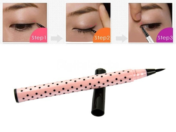 Picture of New Smooth Waterproof Liquid Eye Liner Eyeliner Pen Make Up Cosmetic Black Magic Maquiagens Color Black