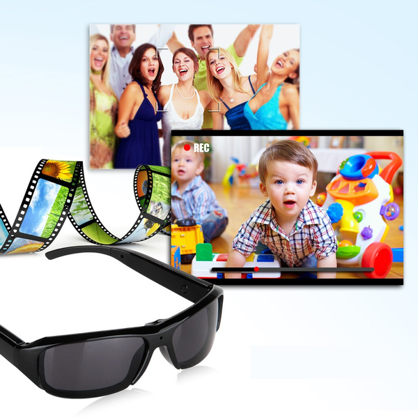 Picture of Excelvan Hd Camera Sunglasses Polarized Hidden Mini Digital Video Recorder Dv Camcorder Color Black
