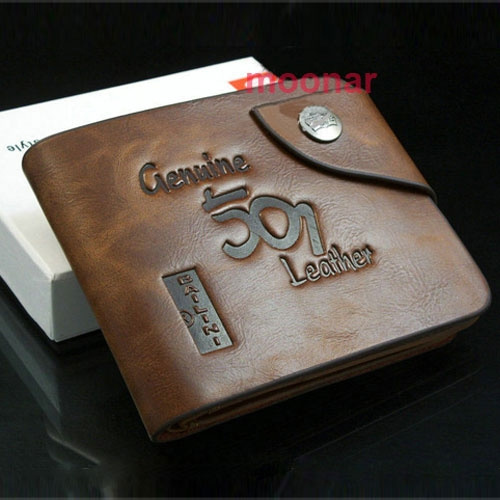 Picture of Man Browns Cowboy Men's Genuine Leather Bifold Wallet Multi Pockets Credit Cards Purse