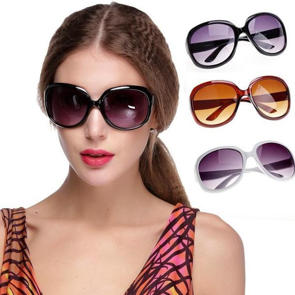 Picture of Women's Designer Oversized Vintage Tortoise Frame Lens Retro Round Sunglasses Shades Eyeglasses Glasses