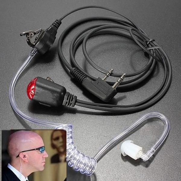 Picture of Fbi Style Headset Earphone Earpiece Talkabout Radio Walkie Talkie 2 Pin Color Black