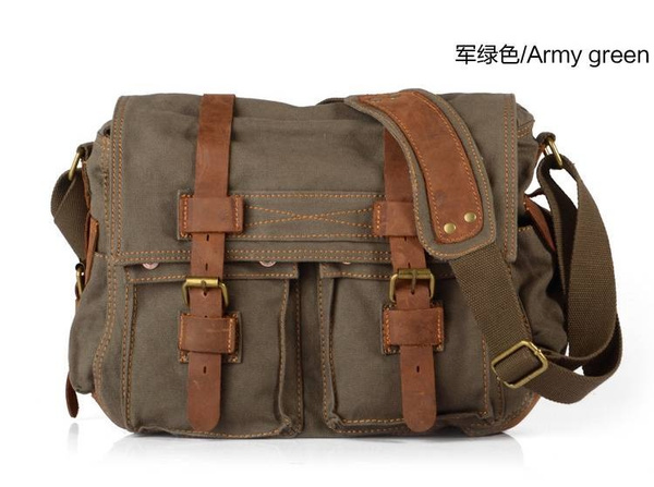 Wish | Jackson Unisex Men Women Vintage Canvas Backpack Rucksack ...