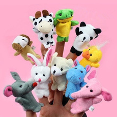 10 Pcs/Lot Cute Cartoon Animal Finger Puppet Biological Animal Finger Puppet Plush Toys For Children's Favor Dolls