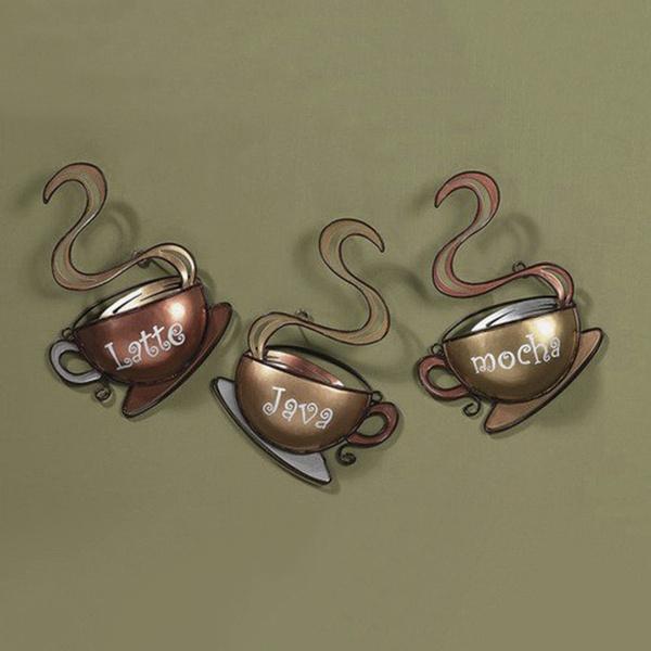 Wish | Coffee House Cup Mug Latte Java Mocha Metal Wall Art Home ...