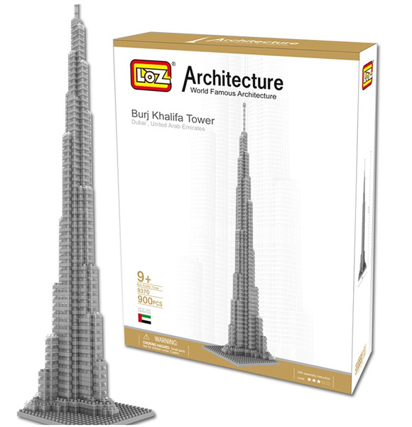 LOZ Nano World Architecture Dubai Burj Khalifa Tower DIY 3D Model Building  Block Toy Gift NOT Compatible With Lego