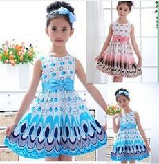 Blues, cute, girls dress, Moda