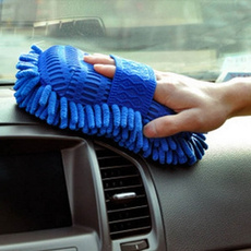 Car Hand Soft Towel Microfiber Chenille Washing Gloves Coral Fleece Gloves Auto