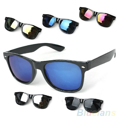 Picture of Unisex Fashion Colorful Mercury Mirror Shade Uv Protection Sunglasses Glasses
