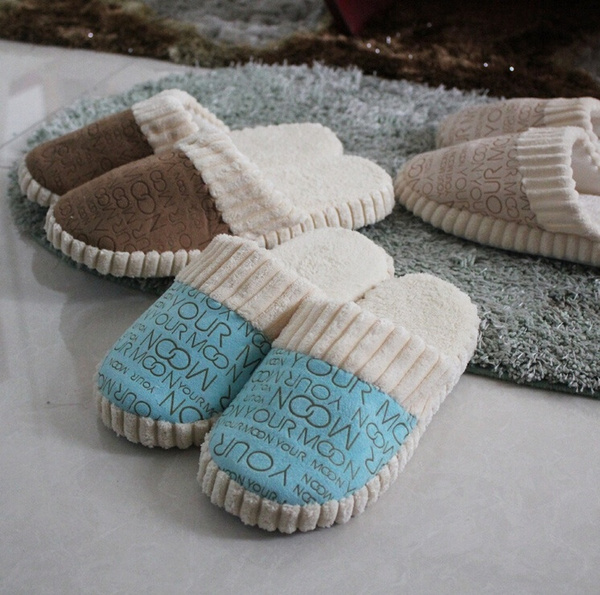 Picture of Women Slipper Flip Flops Warm Soft Home Slippers Autumn Winter Indoor Shoes