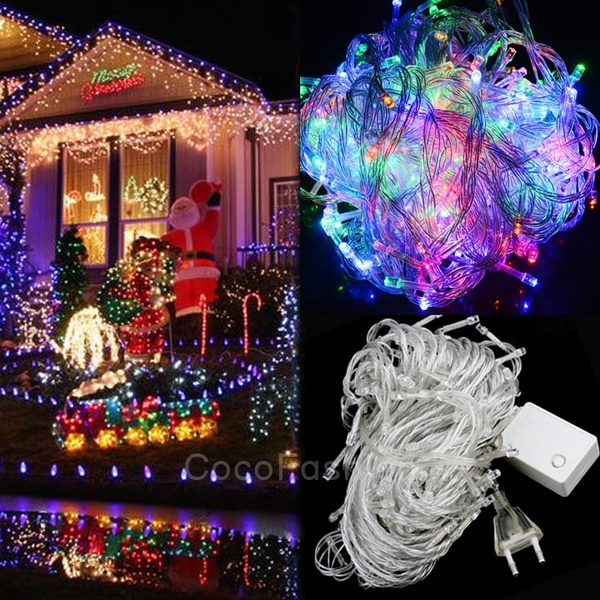 Picture of 20m 200 Led Multi-color Lights Decorative Christmas Party Festival Twinkle String Lamp Bulb 220v Eu Cfc