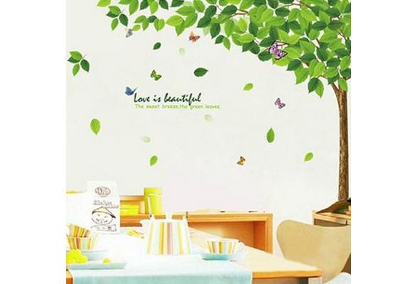 Agreable Branche Du0027arbre Feuille Amovible Art Vinyl Stickers Muraux Papillon Mural  Sticker D¨¦coration | Wish