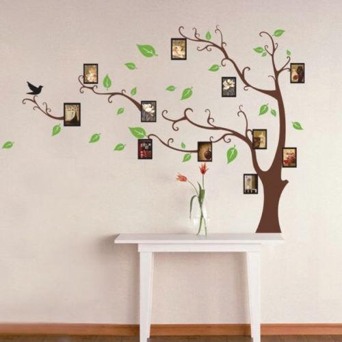 Wish   Cadre de photo de famille Arbre fen¨ºtre sticker mural ...