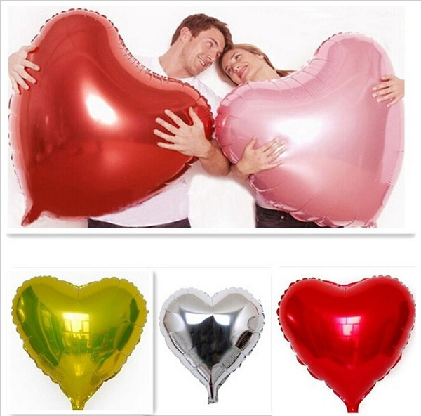 Picture of Super Big Heart Shape Inflatable Balloon Aluminum Foil Wedding Marriage Decoration