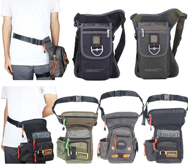 Picture of Men's Women's Multi-function Nylon Leg Bag Messenger Shoulder Waist Bag Outdoor