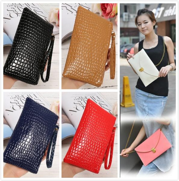 Picture of Lady Leather Envelope Chain Purse Shoulder Clutch Bag Handbag Wallet