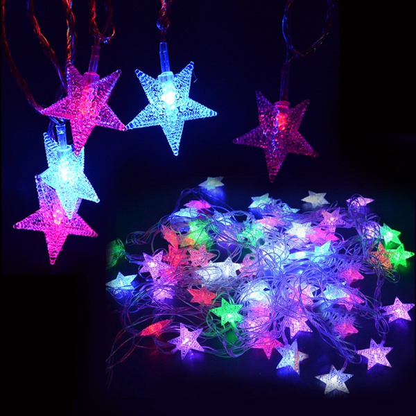 Picture of 5m 28 L Us Plug Decoration Pentagram Light Wedding Party Christmas String Decor Night Dl Size Us Plug Color Multicolor