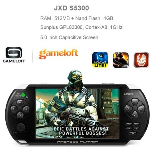 Original JXD S5300 5 inch Android 4 1 Smart PSP Gamepad Tablet PC Game  Player Console 512MB RAM 4GB ROM WIFI 3G HDMI Tablets