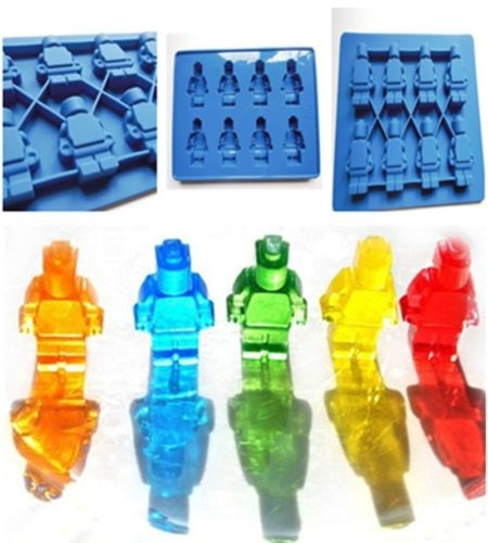 Picture of Blue Minifigure Silicone Chocolate Jelly Candy Cake Mould Ice Cube Tray Mold