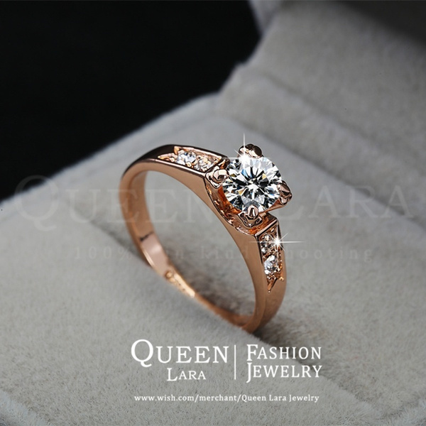 Wish Queen Lara Top Selling High Quality 18K Rose Gold Plated