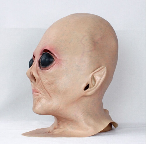 Wish | Realistic UFO Alien Head Mask Latex Creepy Costume Party Cosplay Perfect for Masquerade Parties Gifts Costume Parties Carnival Christmas Easter ... & Wish | Realistic UFO Alien Head Mask Latex Creepy Costume Party ...