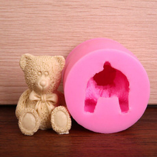 bear fondant cake molds soap chocolate mould for the kitchen baking