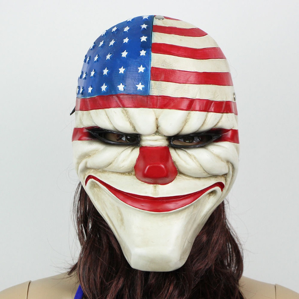Wish | Payday 2 Dallas Masks Resin Costume Prop Dress Heist Joker Cosplay