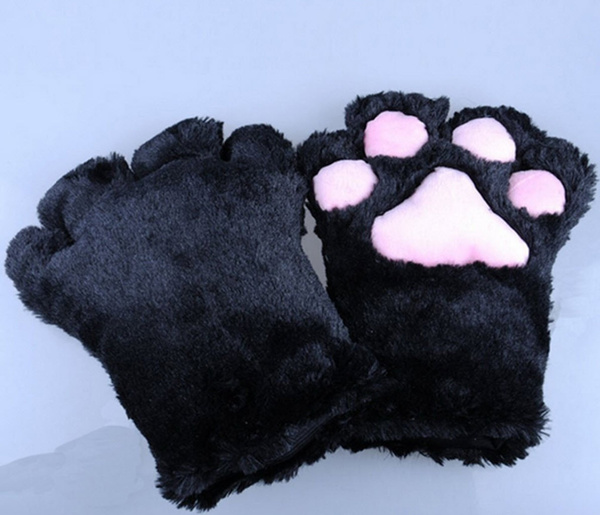 Wish | Lovely Cute Sweet 1 Pair Black Cat Claw Gloves Bear Paw Panda Plush Masquerade Toy Costume Cosplay Party Game & Wish | Lovely Cute Sweet 1 Pair Black Cat Claw Gloves Bear Paw Panda ...