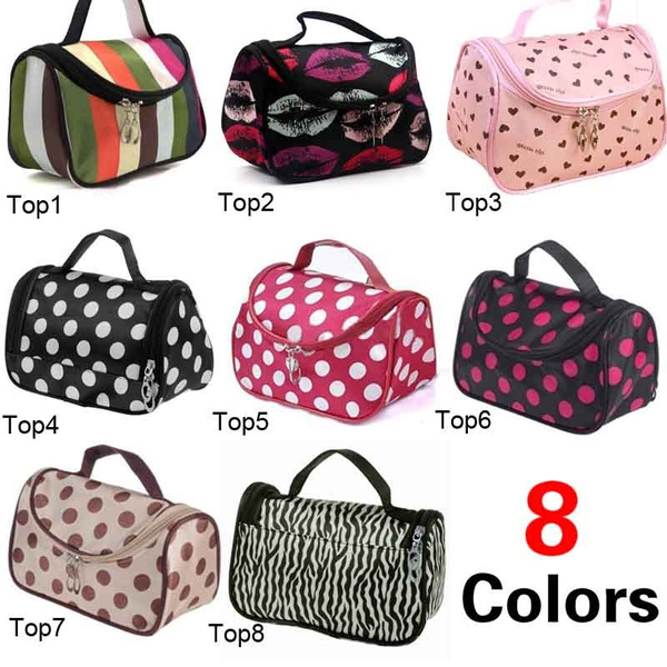Picture of New Women's Makeup Cosmetic Case Toiletry Kits Practical Travel Bag 7 Colors