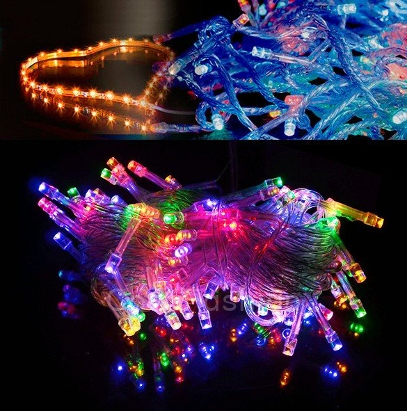 Picture of 10m 100 Led Colorful Lights Decorative Christmas Party Festival Twinkle String Lamp Bulb 110v Us Cfc