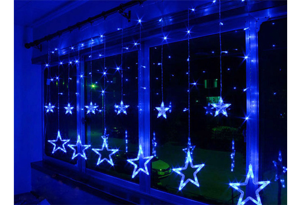 AC110V-240V 138-LEDS Strobe Light Christmas Stars Style Decorative String Light for Christmas Partys Wedding New Year Decorations etc