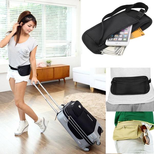 Picture of Travel Pouch Hidden Zippered Waist Compact Security Money Waist Belt Bag